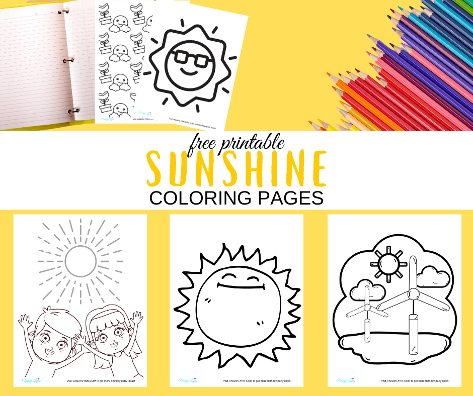 Sunshine coloring pages for a rainy day activity
