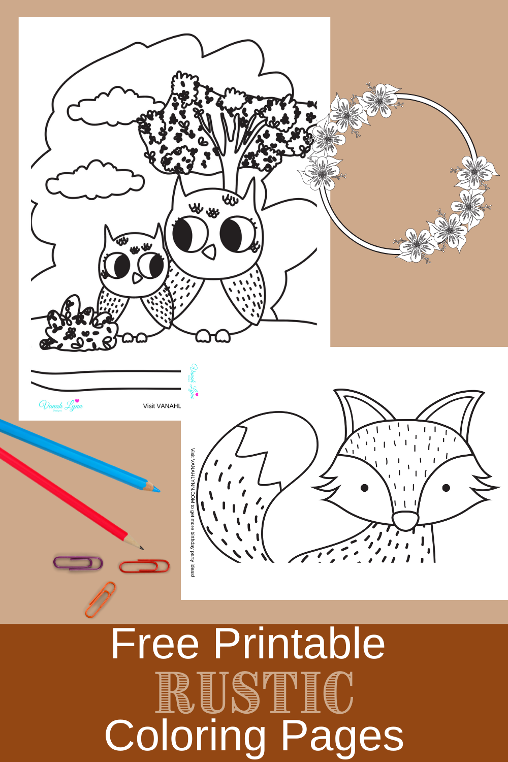 free download: rustic themed activity sheet for a birthday party