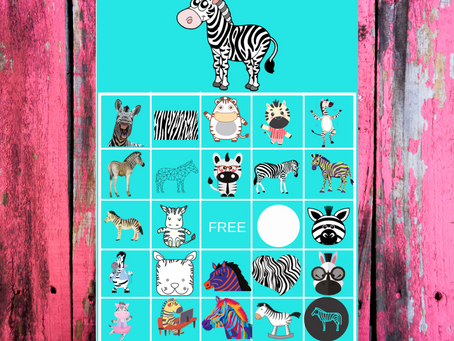 Zebra Bingo | Zebra Themed Party Game Idea | Zebra Birthday Party Activity