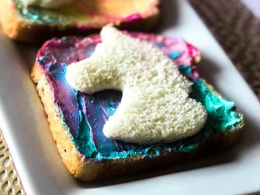 Unicorn Bread: Easy Toddler Snacks