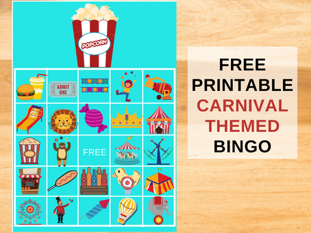 Carnival Themed Bingo | Carnival Party Game Ideas | Carnival Themed Birthday Party Activities