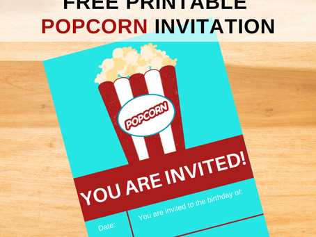 Carnival Invite | Free Printable Carnival Themed Birthday Invitation | Popcorn Birthday Party Ideas