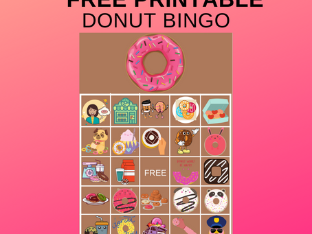Donut Bingo | Donut Themed Party Game Ideas | Donut Themed Birthday Party Activities