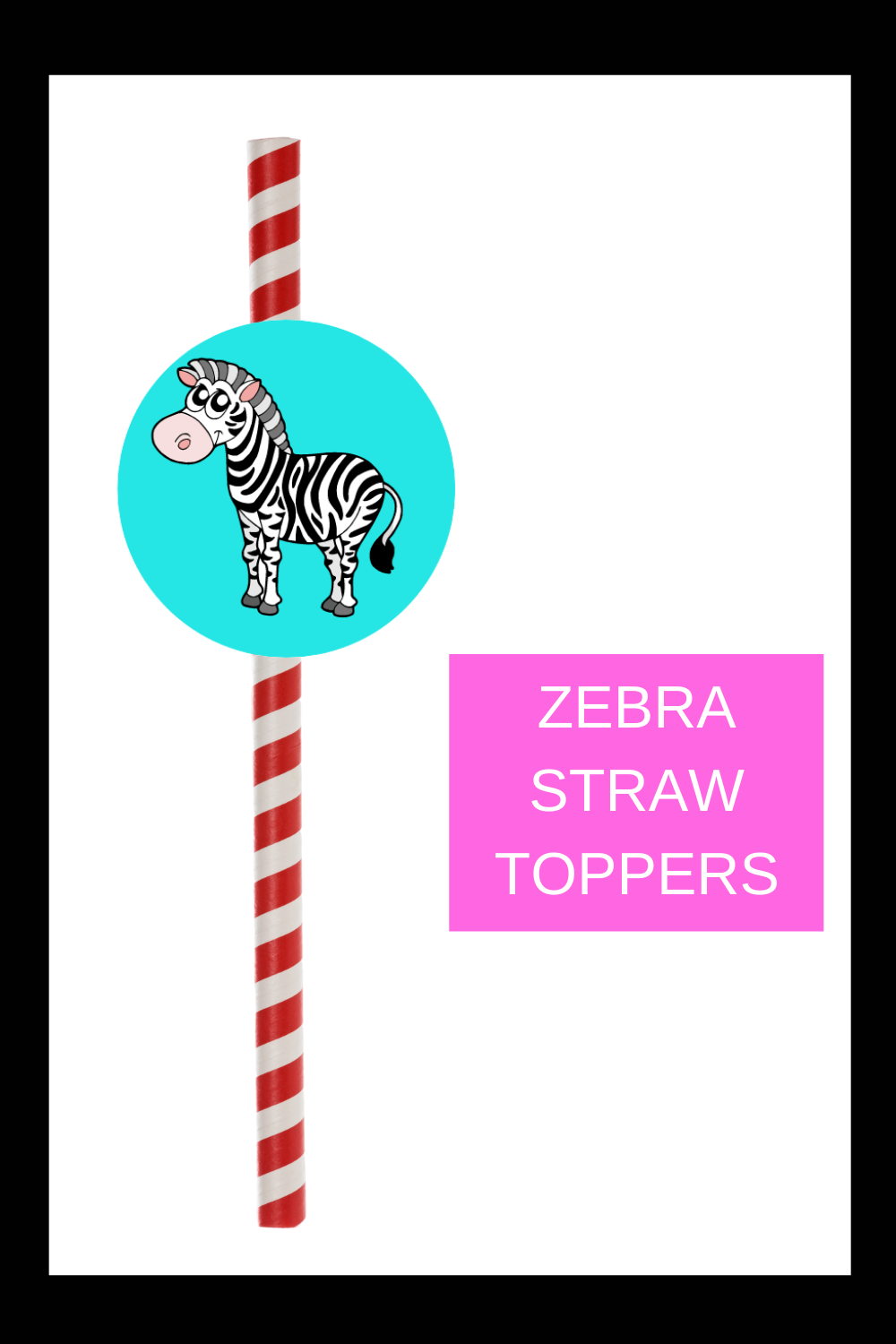 free printable straw toppers for kids birthday party