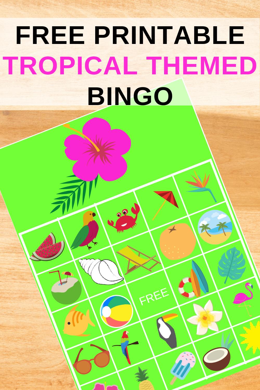 free printable tropical birthday party activity ideas