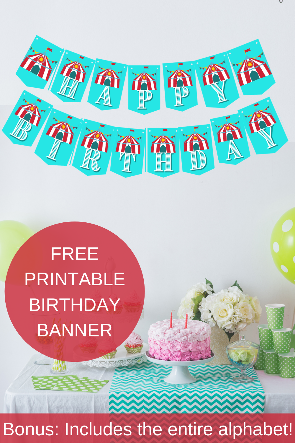 Circus birthday décor for a little girls 1st birthday party
