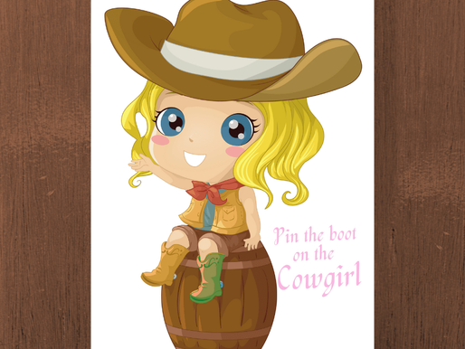 FREE Pin the Boot on the Cowgirl - Cowgirl Birthday Party Ideas