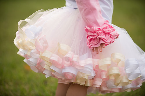 off white tutu on a small girl