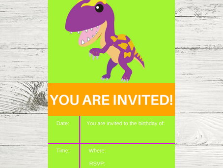 Dinosaur Invite | Free Printable Dinosaur Birthday Invitation | Dinosaur Themed Birthday Party Ideas