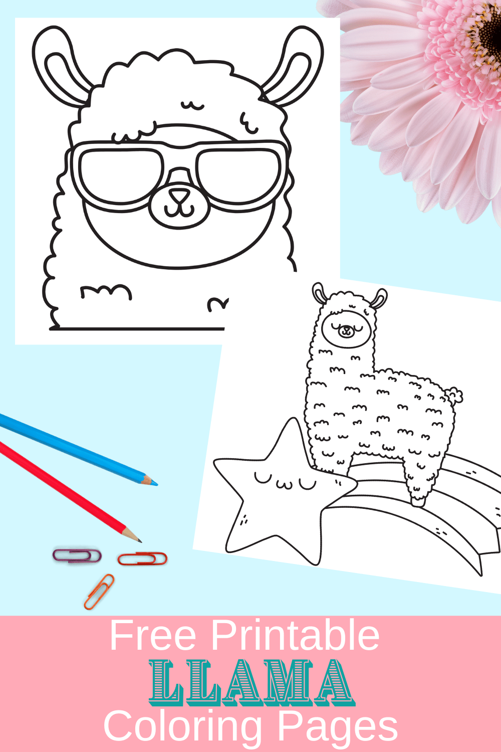 free printable llama coloring pages