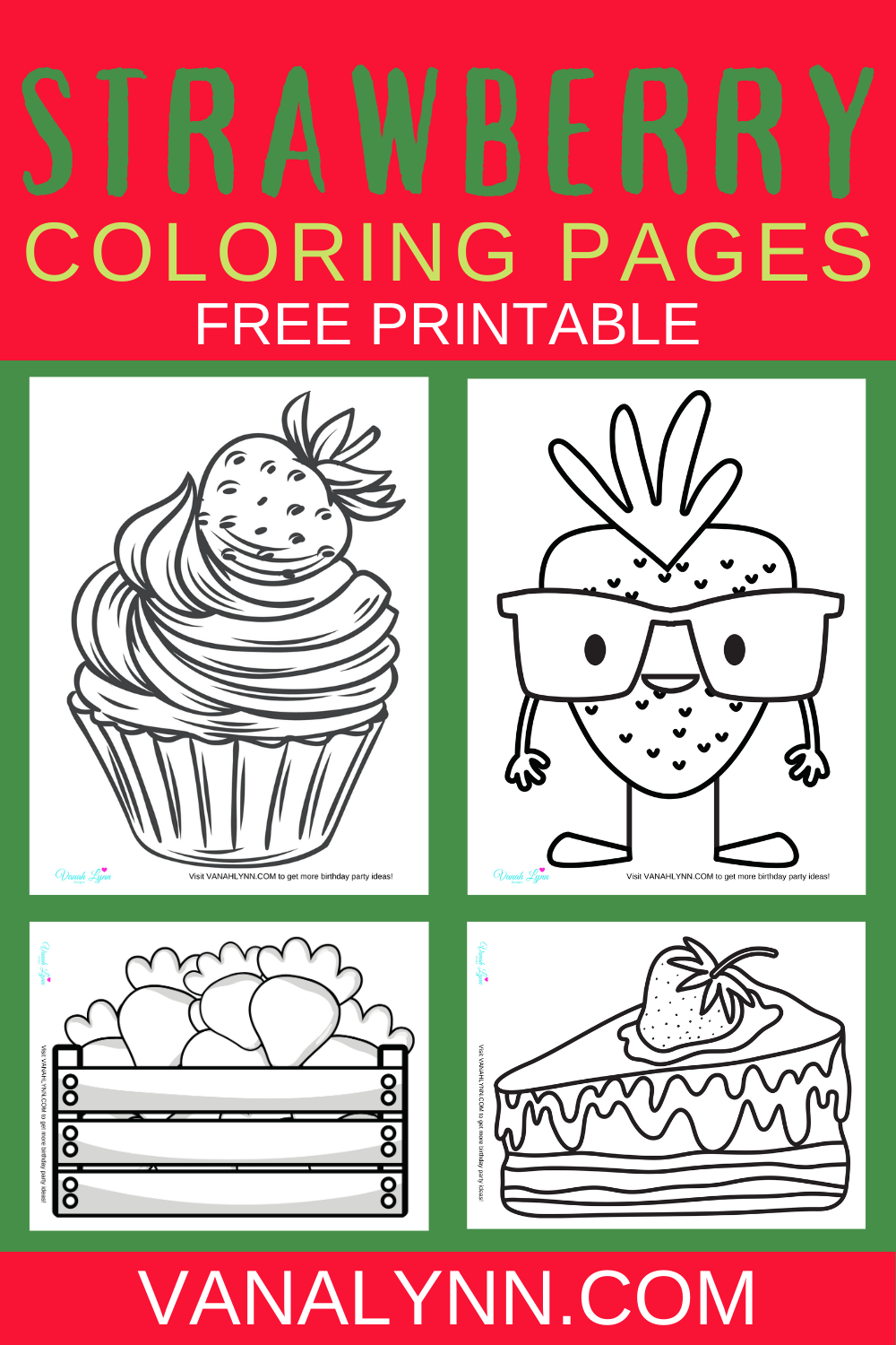 free download: strawberry coloring pages for preschoolers