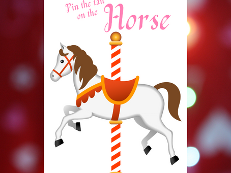 Pin the Tail to the Horse | Carousel Party Games | Carousel Birthday Party Activity