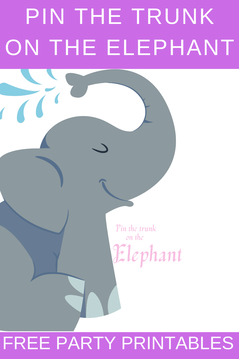 elephant 1st birthday party games for kids