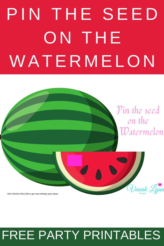 free printable watermelon birthday party ideas