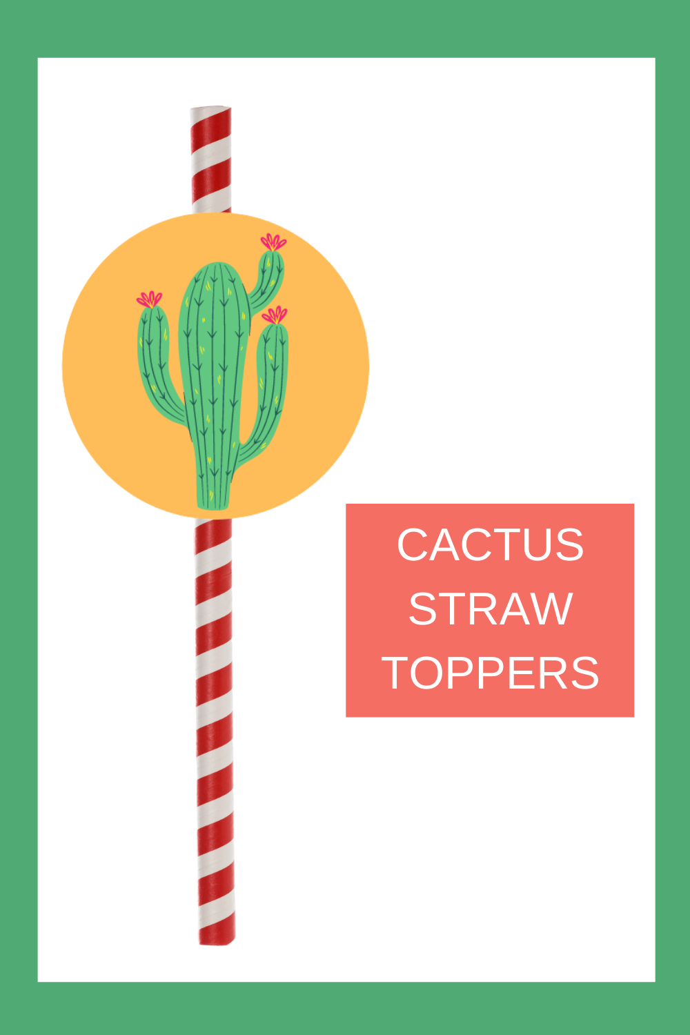 free printable cactus straw toppers