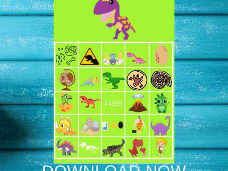 Dinosaur Bingo | Dinosaur Themed Party Game Ideas | Dinosaur Birthday Party Activity