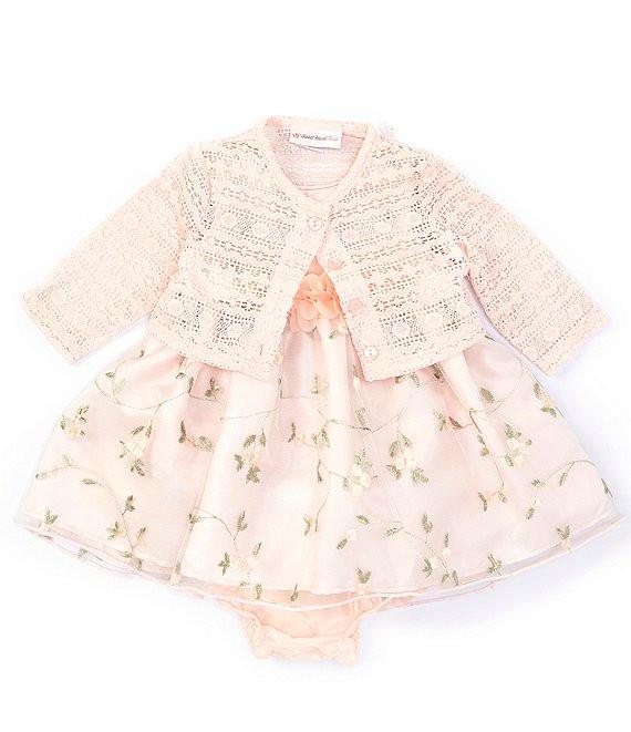 Light pink easter dress for baby girl