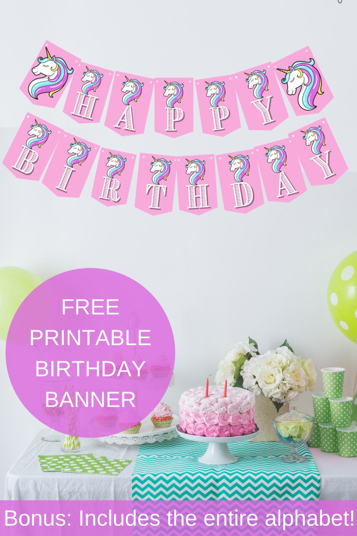 pink unicorn birthday party decorations
