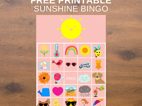 Sunshine Bingo | Sunshine Themed Party Game Idea | Sunshine Birthday Party Activity