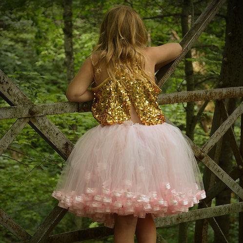 light pink tutu on tween girl