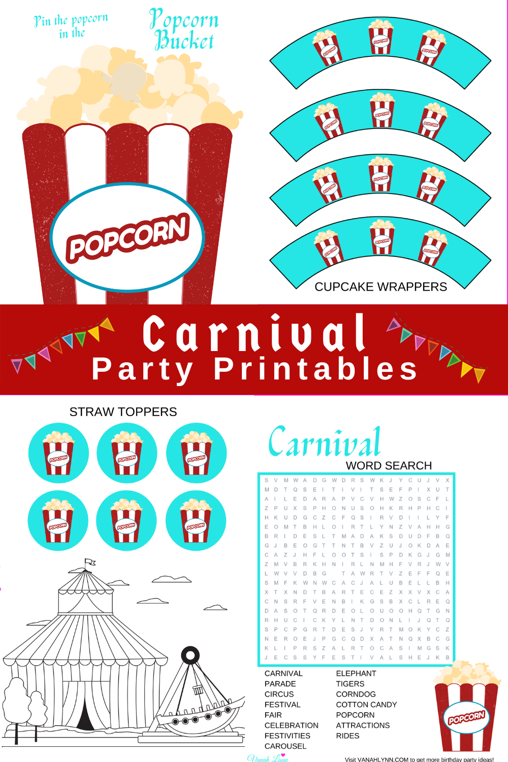 carnival first birthday games and invites