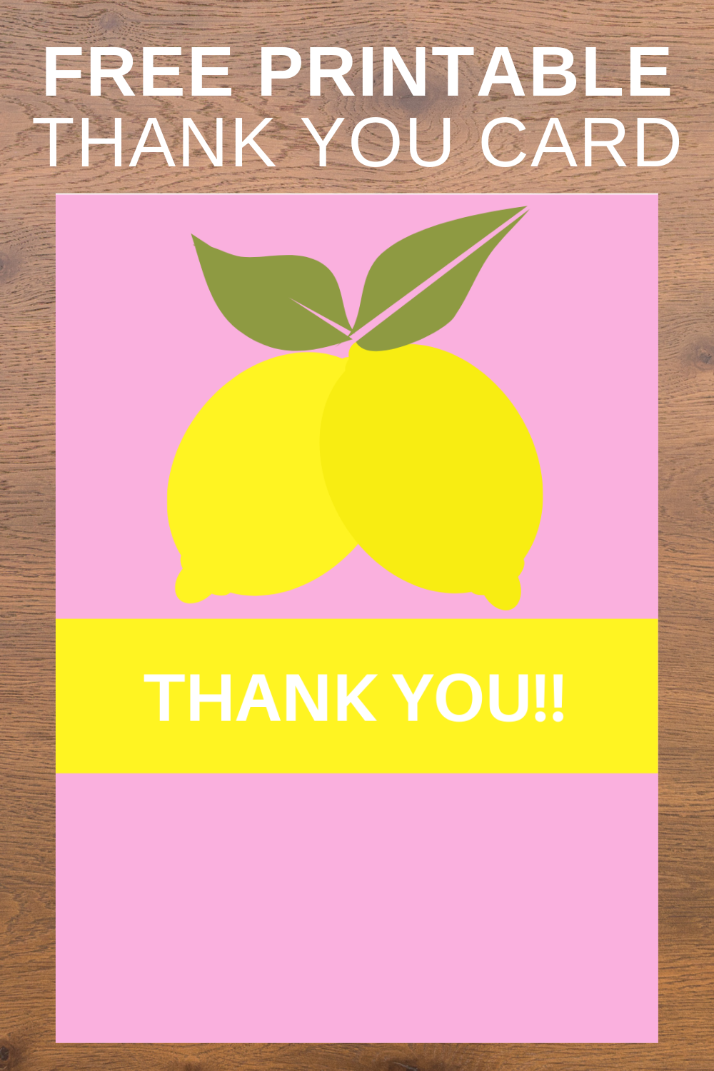 1st birthday lemonade thank you card for preschoolers