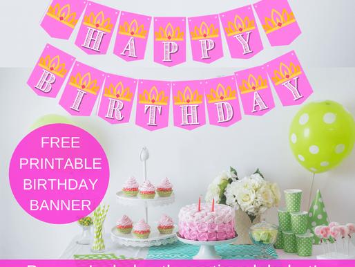 Free Printable Princess Birthday Banner