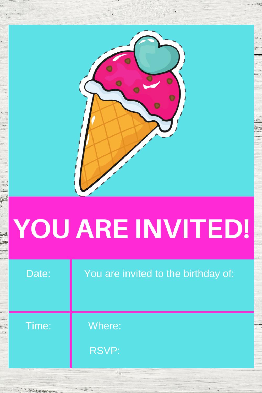 free printable ice cream invite for kids
