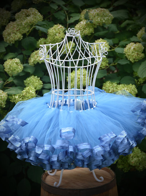 1st birthday smoke blue tutu skirt