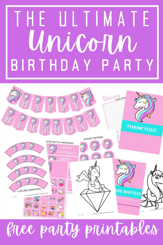 free printable birthday party ideas