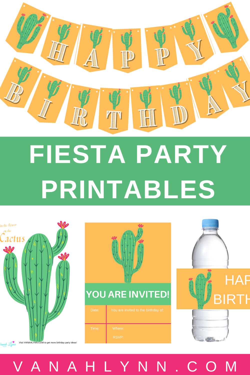 cactus first birthday party decorations