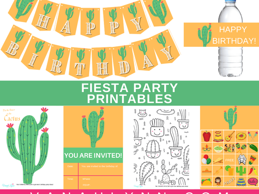 FREE Mexican Fiesta Themed Birthday Party Printables