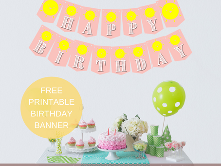 Sunshine Happy Birthday Banner and Sunshine Themed Alphabet Banner | Sunshine Themed Party Décor