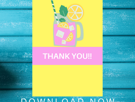 Pink Lemonade Thank You Card | Free Printable Pink Lemonade Thank You Note | DIY Party Ideas