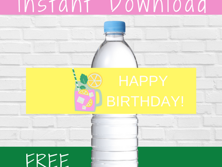 Pink Lemonade Water Bottle Label | Free Printable Pink Lemonade Birthday Party Ideas | DIY Party