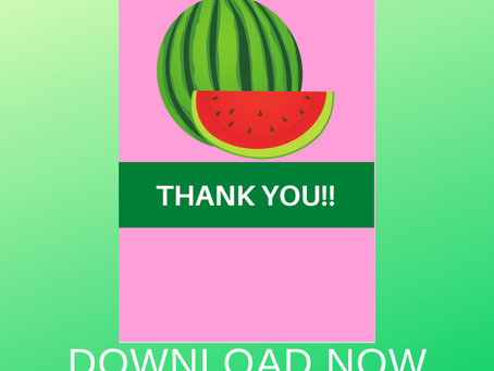 Watermelon Thank You Card | Free Printable Watermelon Themed Thank You Note | DIY Party Ideas