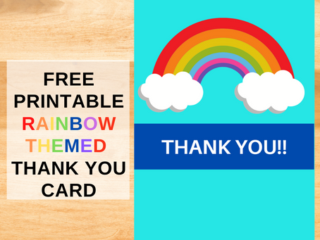 Rainbow Themed Thank You Card | Freebie