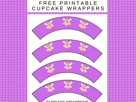 Fairy Garden Cupcake Wrappers | Free Printable Fairy Garden Themed Party Décor | Fairy Garden Ideas