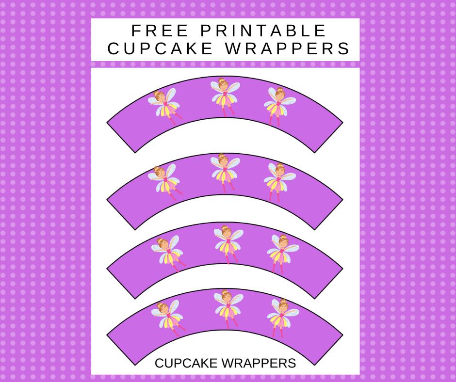 free printable fairy cupcake wrapper