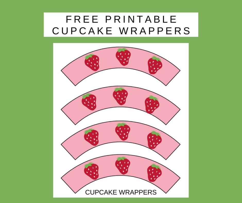 strawberry birthday ideas: cupcake wrappers