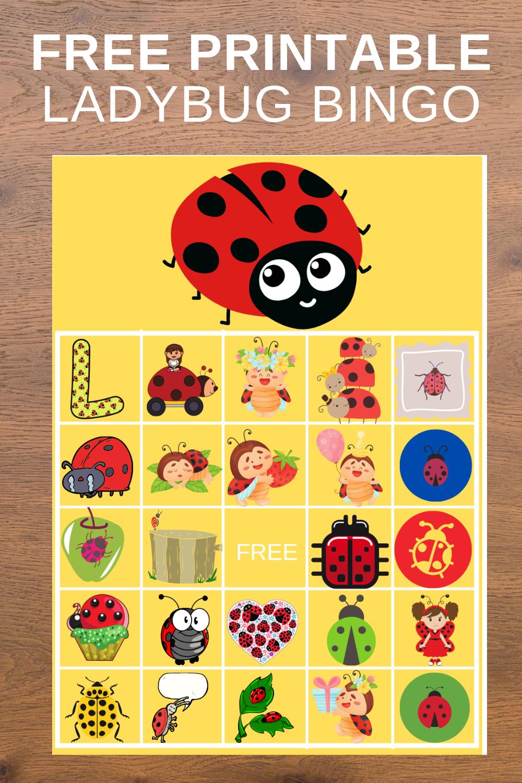 free printable ladybug bingo game for 1st birthday party
