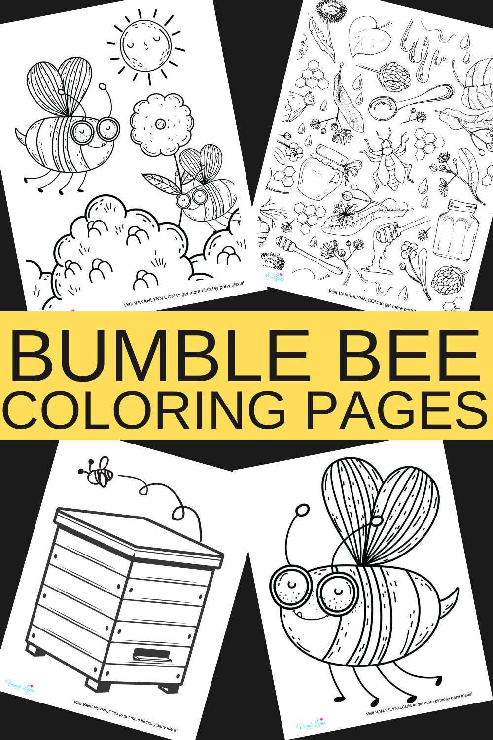 10 free printable bumble bee activity sheets