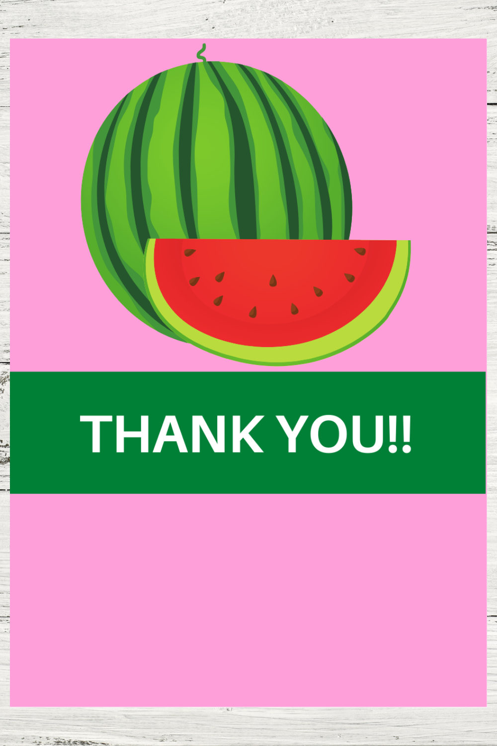 free download: watermelon themed thank you note
