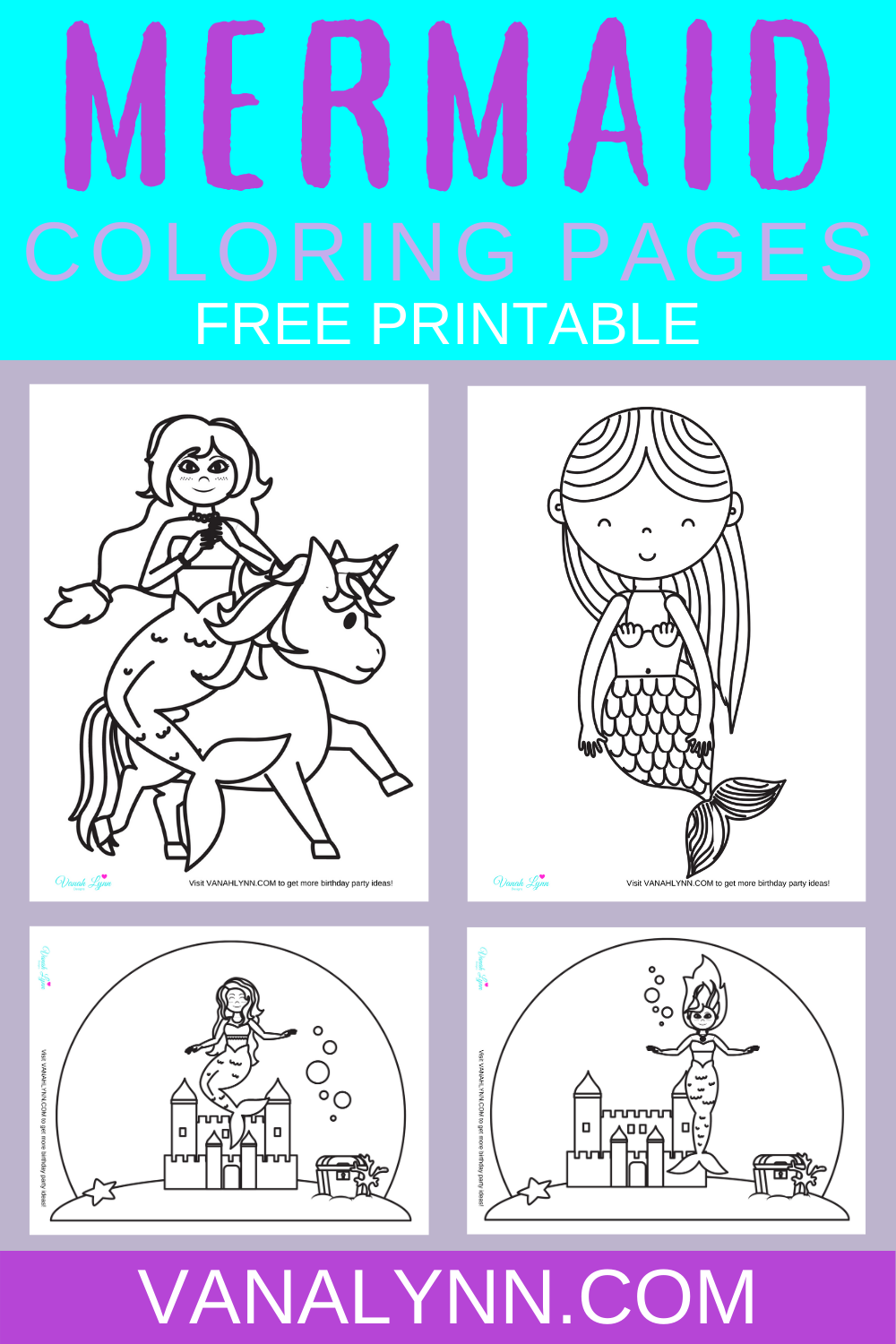 free download: mermaid activity sheets for kids