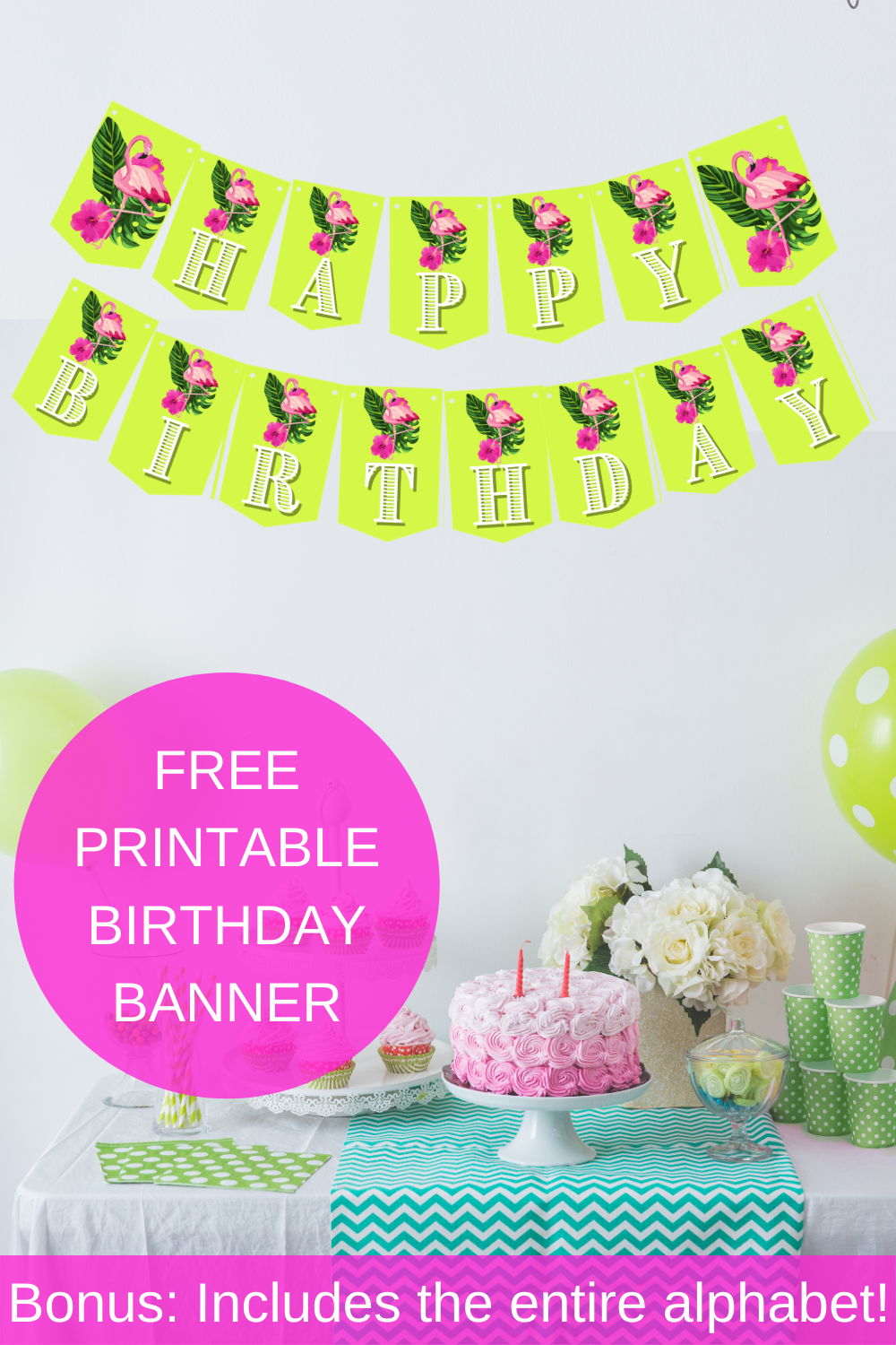 first birthday tropical flamingo birthday decorations