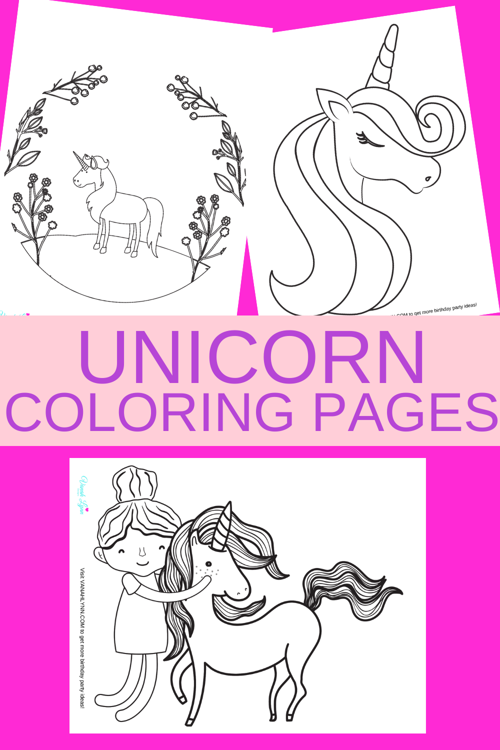 free download: unicorn coloring sheet for little girls