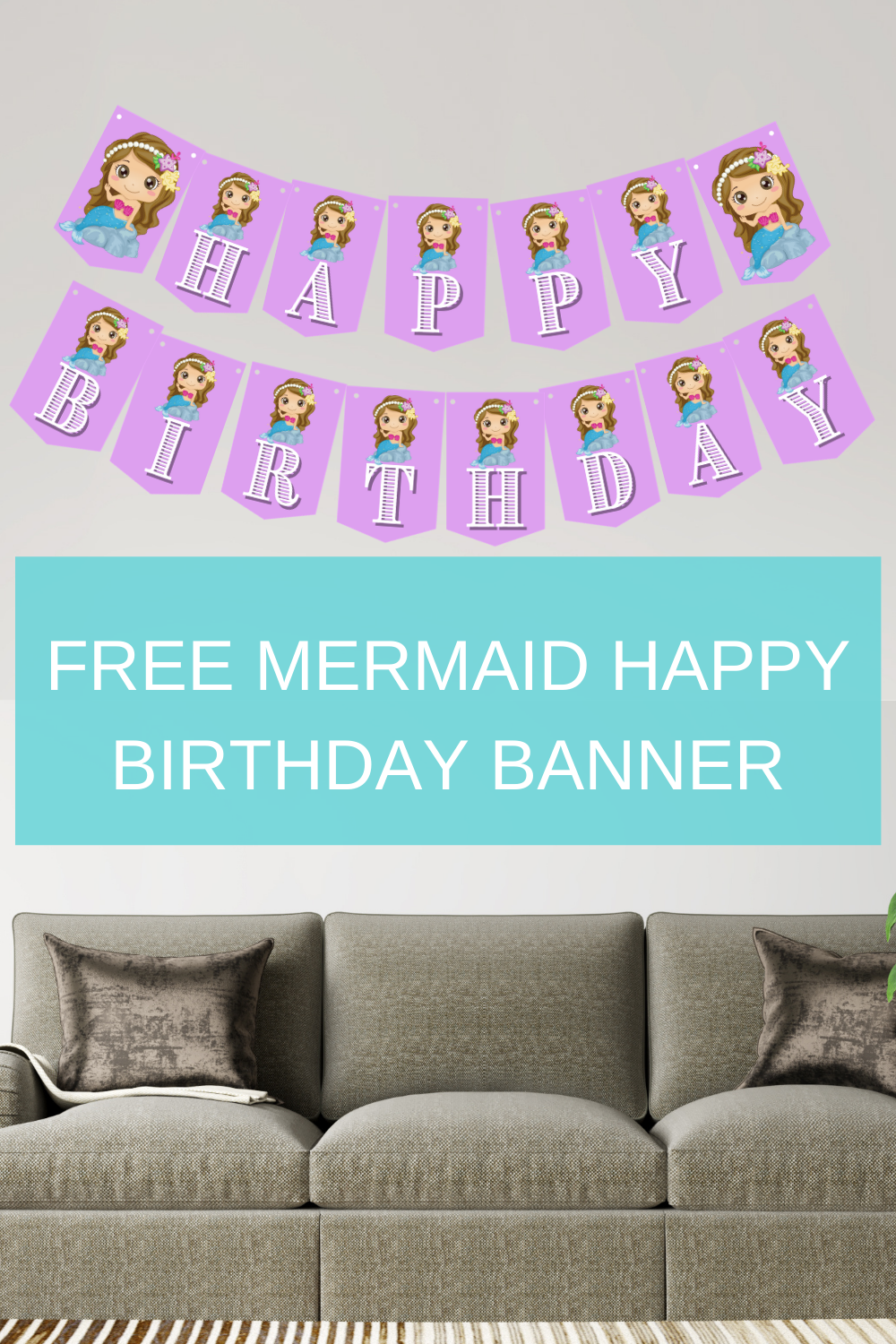 under the sea happy birthday banner for a birthday party