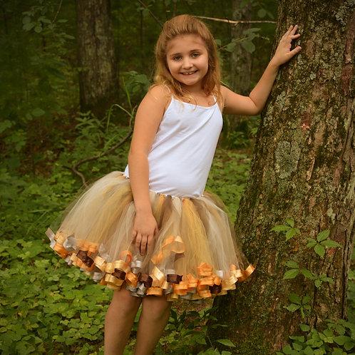 fall themed tutu skirt on girl