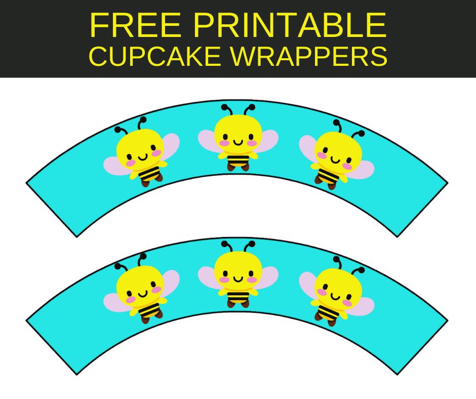 Bumble bee cupcake wrappers for child's birthday party