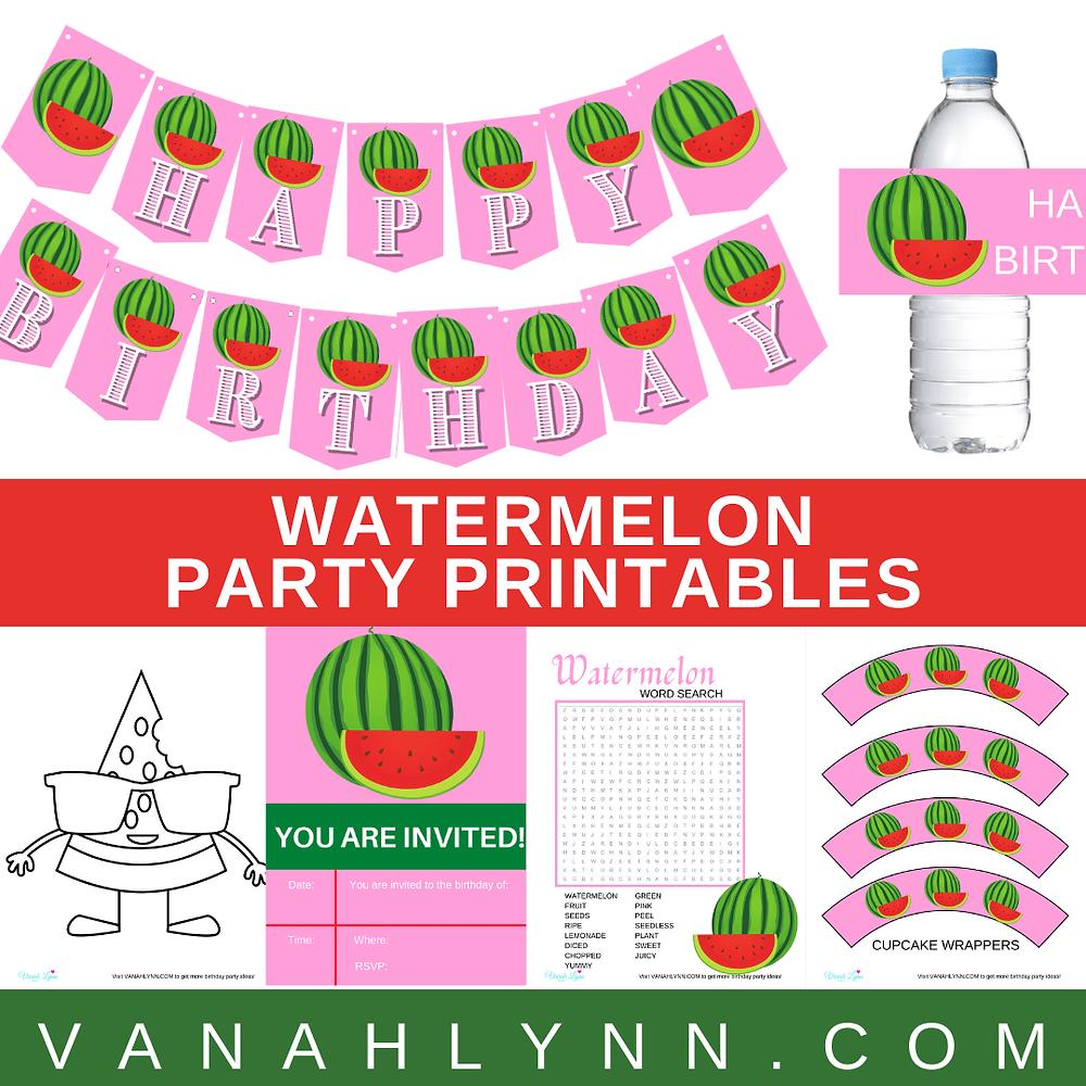 watermelon birthday party theme ideas